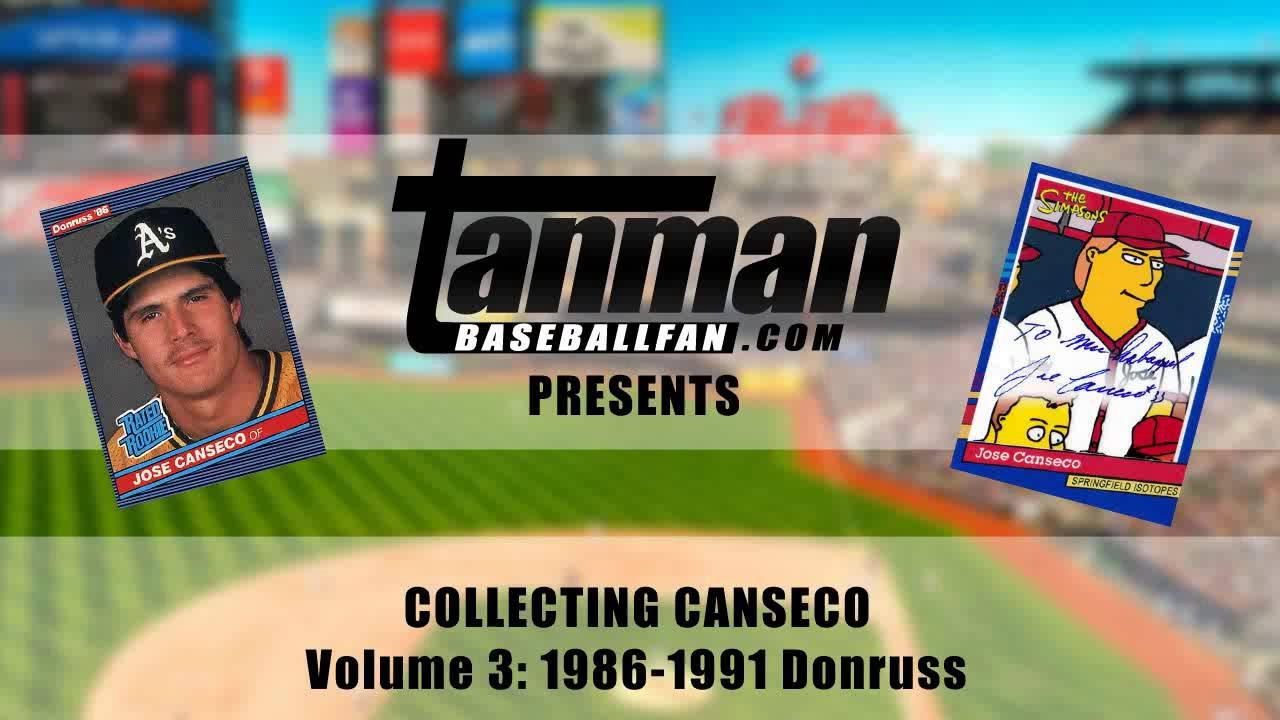 2adf5a0c299 Jose Canseco Baseball Card Collection Volume 3  1986-1991 Donruss - YouTube
