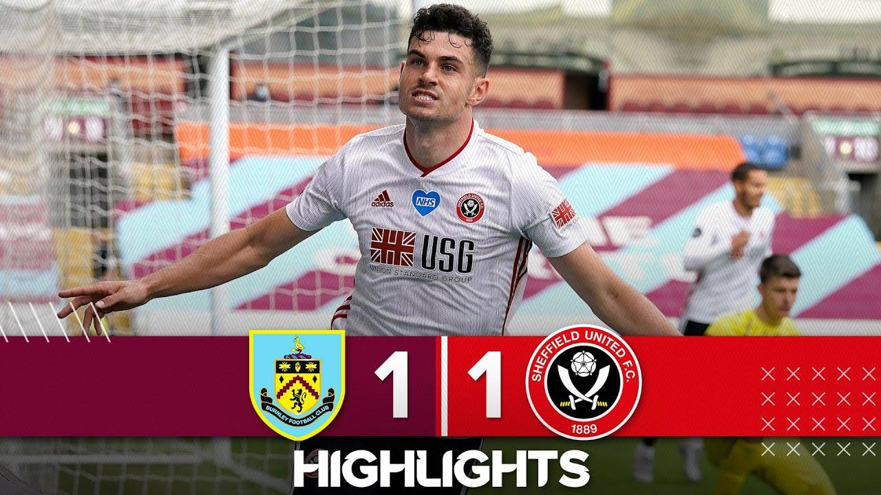 Burnley 1-1 Sheffield United   Premier League highlights   John Egan earns Blades a point in the EPL