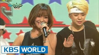 Amber - SHAKE THAT BRASS (Feat. Luna - f(x)) [Music Bank HOT Stage / 2015.03.06]