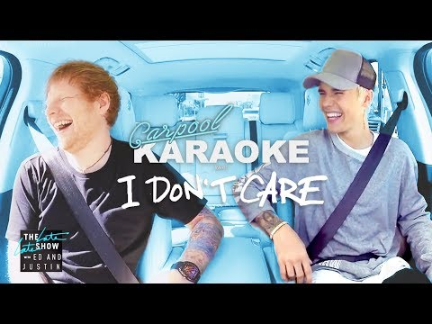 Ed Sheeran And Justin Bieber 'I Don't Care Carpool Karaoke