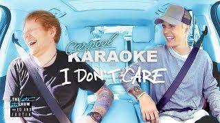 "Ed Sheeran and Justin Bieber '""I Don't Care"" Carpool Karaoke"