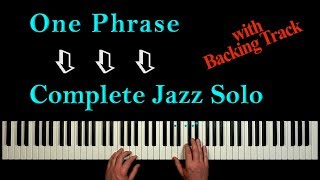 Learn ONE PHRASE to play a THRILLING JAZZ SOLO