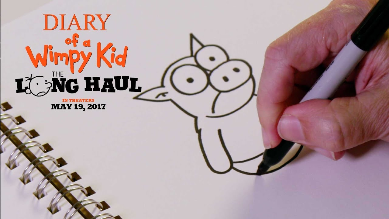 Diary Of A Wimpy Kid The Long Haul How To Draw The Pig Fox Family Entertainment Youtube