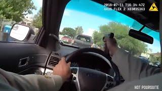 Il tir à travers le pare brise, Las Vegas : Course poursuite  (Police Chase)