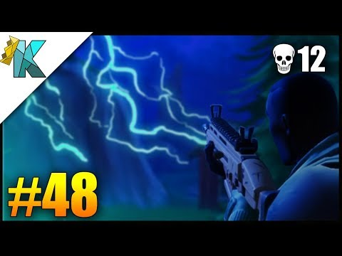 The Night is Dark & Full of Terrors! - Fortnite Battle Royale Victory Gameplay #48