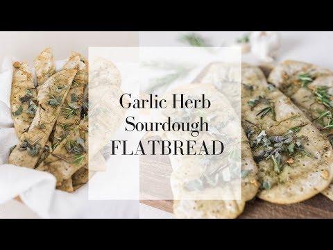 Herb and Garlic Sourdough Flatbread | NO WAIT SOURDOUGH RECIPES | Long Fermented Sourdough Recipes