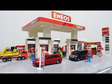 トミカ トミカタウン ガソリンスタンド エネオスENEOS コマ撮り Tomica