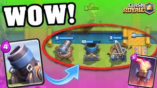Clash Royale | ALL DEFENSE CARDS ONLY WINS! WOW! | Epic Gameplay / Troll Deck!