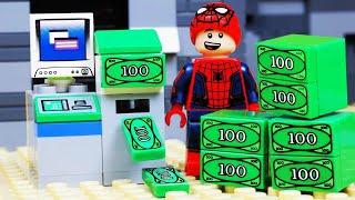 Lego City ATM Bank Robbery - Lego Spiderman TOY FAIL
