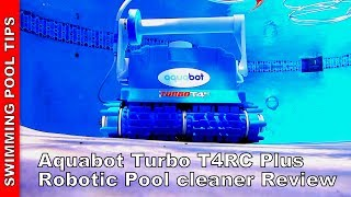 Aquabot Turbo T4RC Plus Robotic Pool Cleaner -Remote Control, 75 FT of Cable and More!