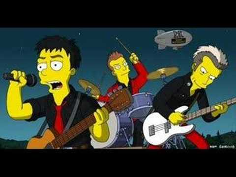 Green Day The Simpsons Theme Youtube
