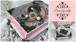 Graphic 45 Jewelry Box Tutorial | Floral Shoppe, Love Notes, A Ladie's Diary, Portrait of a Lady