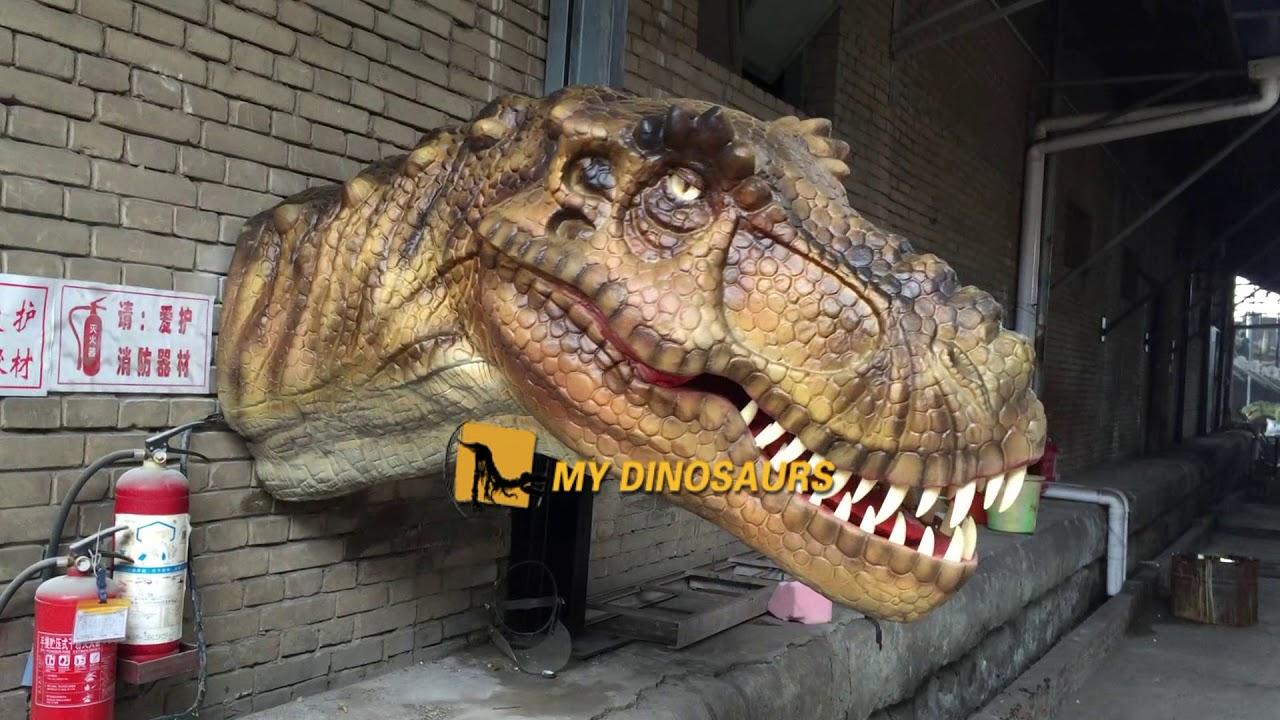 Wall Decoration Animatronic dinosaur T-REX head - YouTube