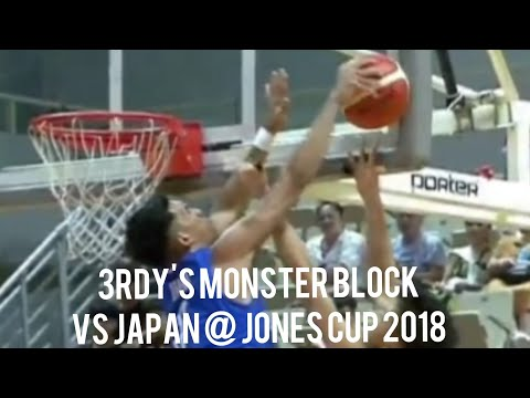 Thirdy Ravena with a MONSTER BLOCK On Takuma Sato (VIDEO) Jones Cup 2018