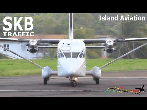 (Flying Box) M&N Aviation Shorts 360F departing St. Kitts for Puerto Rico