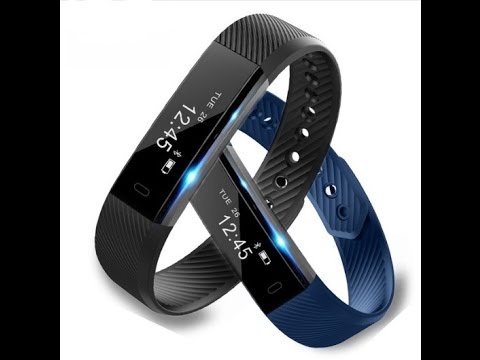 ID115 Smart Bracelet Fitness Tracker Step Counter Activity Monitor Band Alarm Clock Vibration Wristb