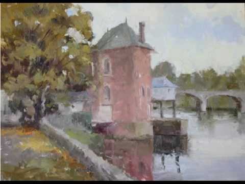 Brent Jensen Oil Painting Demonstration of Autumn in