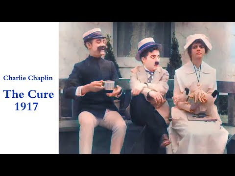 Charlie Chaplin - The Cure 1917 In Colors