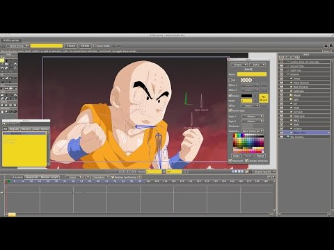 How to Create Anime  - DBZ Anime Studio/Moho Tutorial