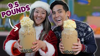 I Challenged My Friend To Finish A 5200-Calorie Boba Milk Tea • Giant Food Time Holiday Ep. 2
