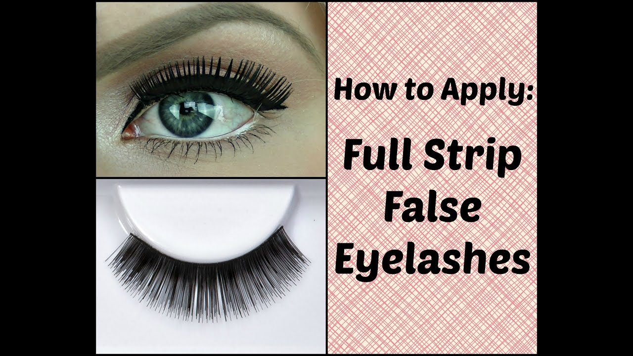 How to Apply False Eyelashes Perfectly (easy and quick ...
