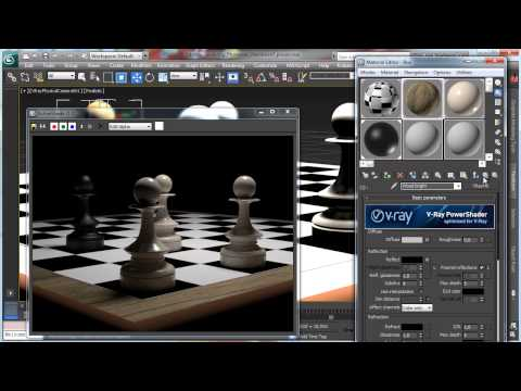 Photoreal chessboard pieces