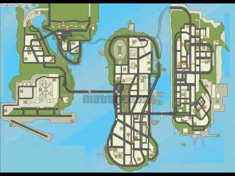 gta 3 how to open map