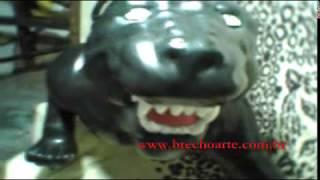 Pantera Negra em fibra de vidro