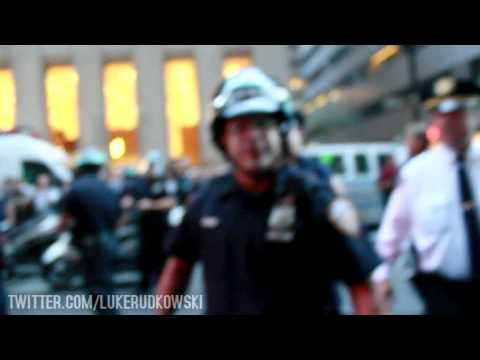 Protesters Clash with Police During Wall Street March, Arrests @ #occupywallstreet