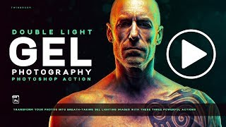 Dual Lighting Gel Photoshop Action
