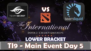 Liquid vs Secret | Cosplay Event | The International 2019 | Dota 2 TI9 LIVE | Main Event Day 5