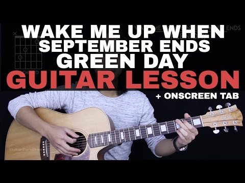 Wake Me Up When September Ends Guitar Tutorial - Green Day Guitar Lesson |Tabs + Guitar Cover|