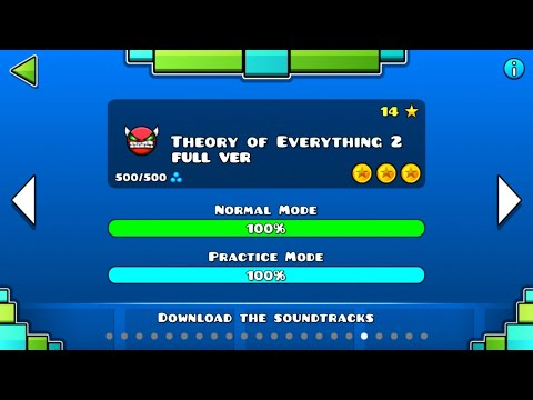 Geometry Dash - Theory of Everything 2 (FULL VER) All Coin / ♬ Partition