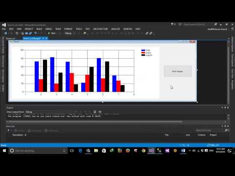 """How To Use Chart Control using C# with DataBase """"ADO"""" (Part 1) in Arabic"""