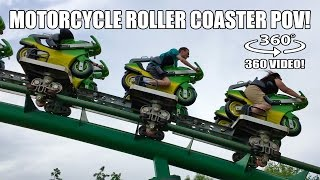 Motorcycle Theme Roller Coaster 360 Degree POV Booster Bike Toverland Netherlands