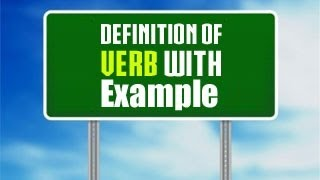Definition of Verb With Example