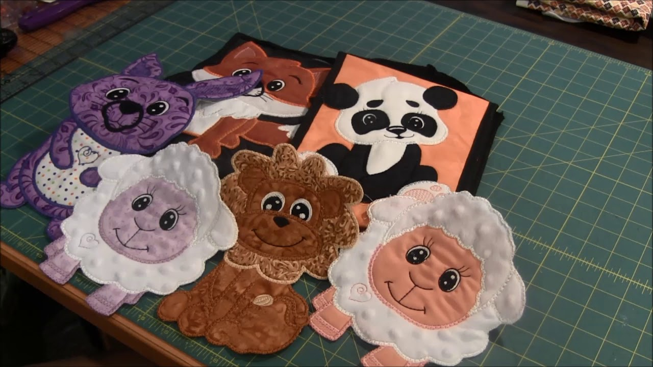 Cute animal applique machine embroidery youtube
