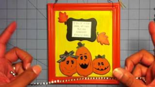 Halloween 3d treat wood box and frame