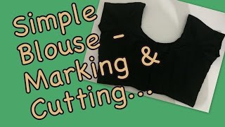 Simple blouse- Cutting (Part 1)