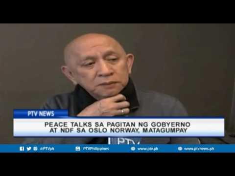 Peace talks sa pagitan ng gobyerno at NDF sa Oslo Norway, matagumpay