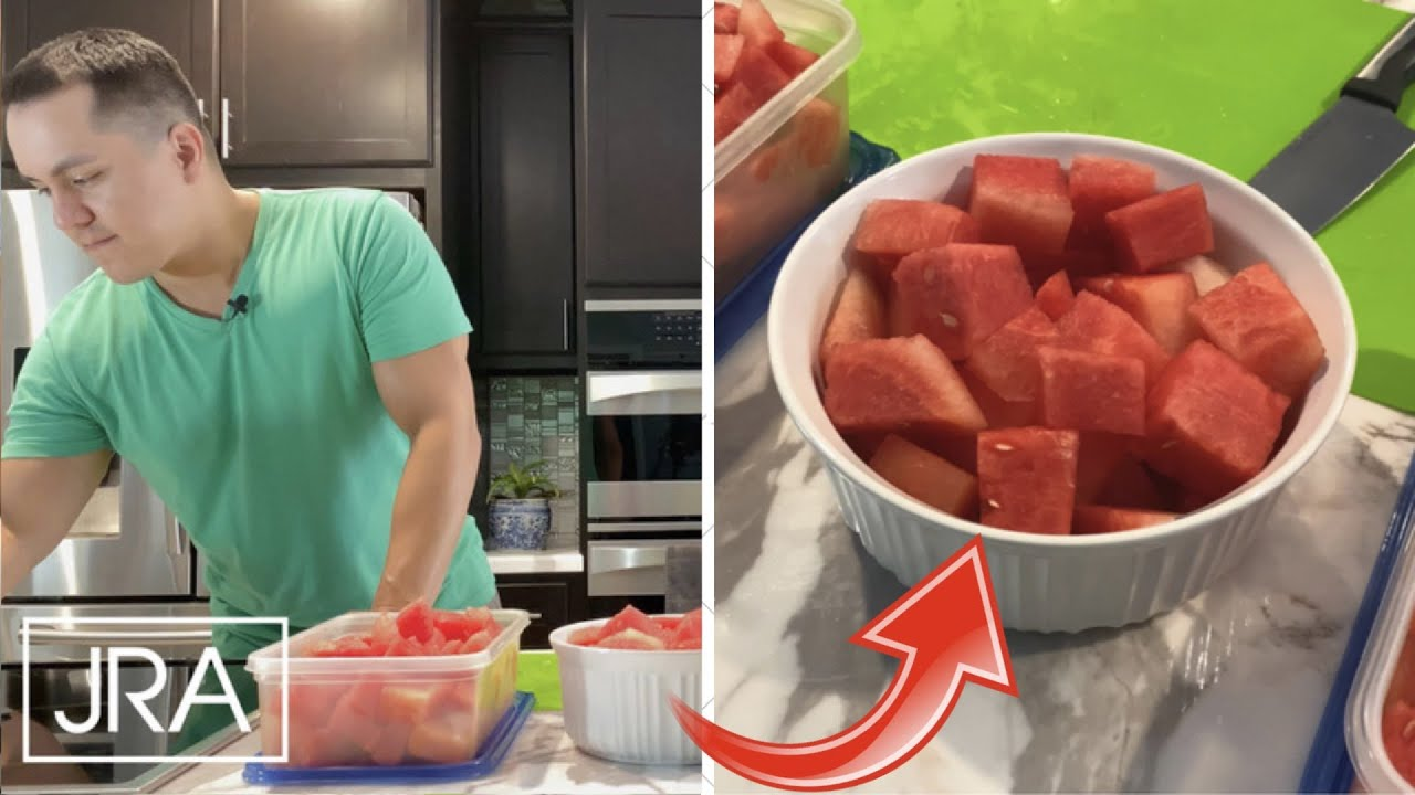 How To Cut Watermelon Into Cubes | Quick Steps