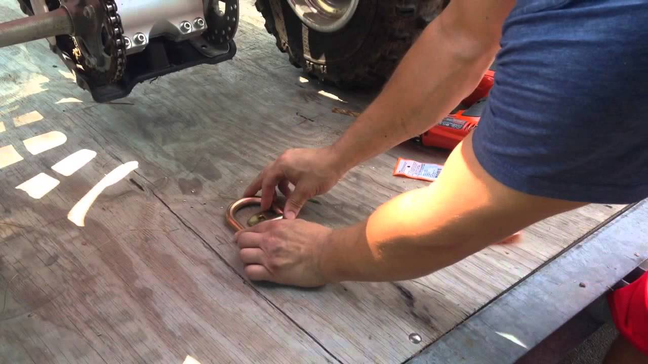 Harbor Freight Cargo D Ring Anchor Install On Atv Trailer