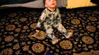 Baby Crawling to grandma