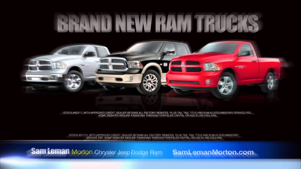 "Sam Leman Chrysler Dodge Jeep Ram Morton ""Ram Year End Clearance"