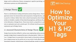 How to Optimize Your H1 and H2 Tags