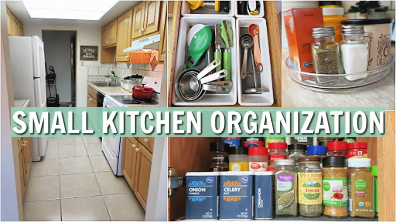 SMALL KITCHEN ORGANIZATION IDEAS | ORGANIZING MY KITCHEN WITH DOLLAR STORE  AND AMAZON PRODUCTS