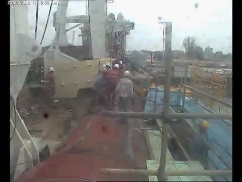 Industrial accident with a lucky escape