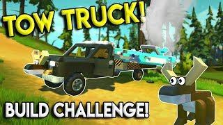 TOW TRUCK CHALLENGE! - Scrap Mechanic Multiplayer - Tow Truck Build Challenge