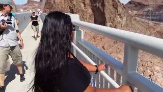 She tried to jump off the bridge (Visiting Hoover Dam at Las Vegas, Nevada