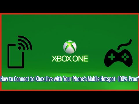 How To Connect To Xbox Live With Your Phone's Mobile Hotspot- 100% Proof